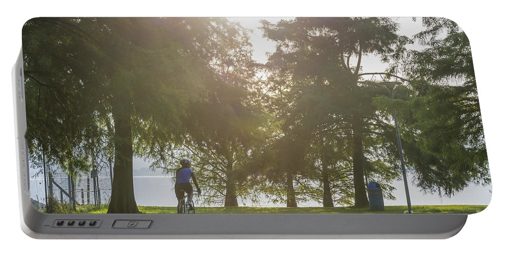 Bicycle Portable Battery Charger featuring the photograph Bicycle by Mats Silvan