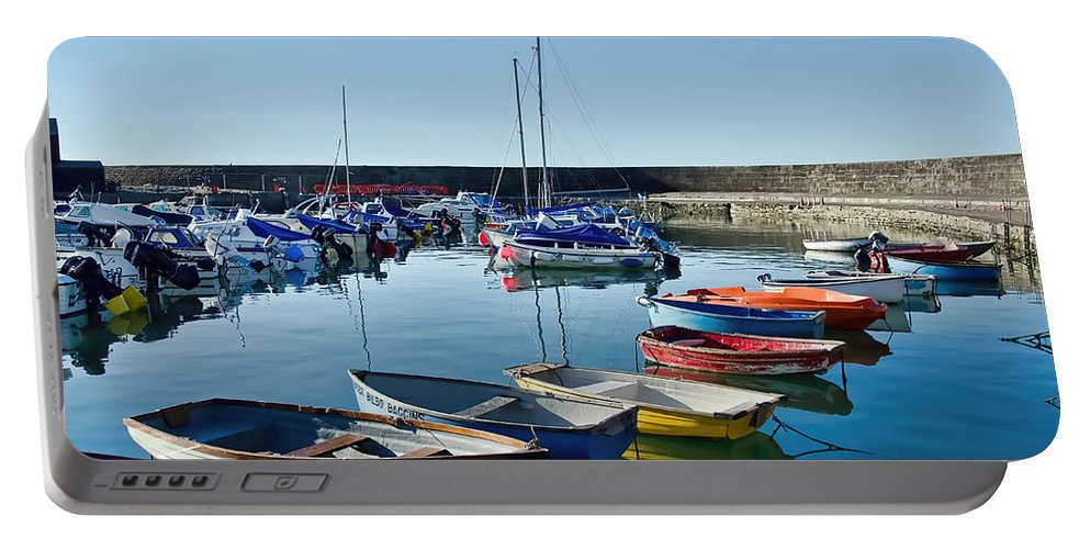 Lyme-regis Portable Battery Charger featuring the photograph Lyme Regis Harbour by Susie Peek