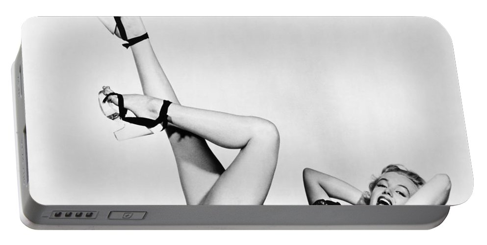 20th Century Portable Battery Charger featuring the photograph Marilyn Monroe by Granger