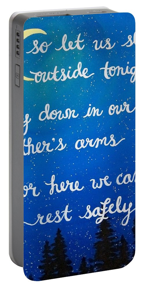 Dmb Portable Battery Charger featuring the painting 12x16 Dmb So Let Us Sleep Outside Tonight by Michelle Eshleman