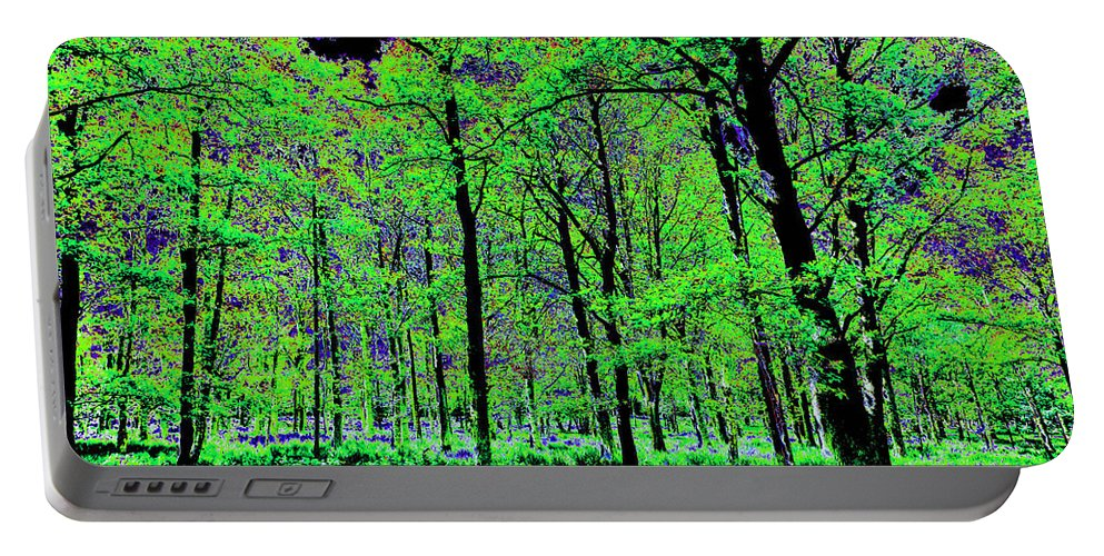 Tree Portable Battery Charger featuring the digital art Forest Art by David Pyatt