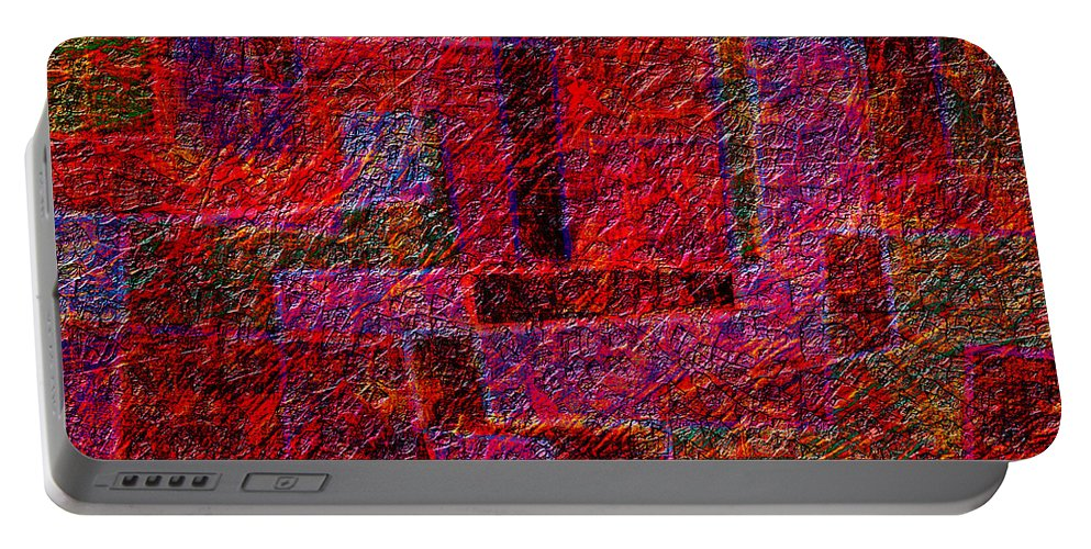 Abstract Portable Battery Charger featuring the digital art 1346 Abstract Thought by Chowdary V Arikatla