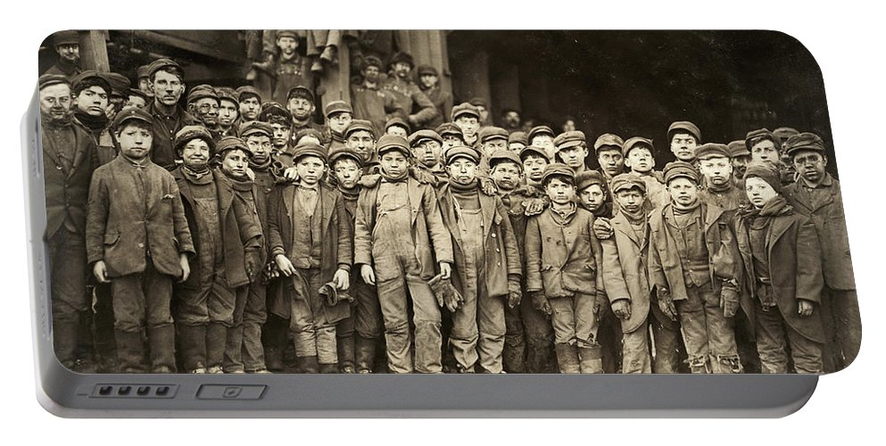 1911 Portable Battery Charger featuring the photograph Hine Child Labor, 1911 by Granger