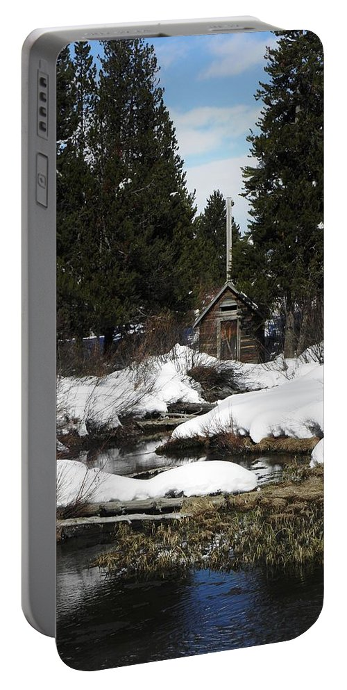 Shed Portable Battery Charger featuring the photograph Island Park by Image Takers Photography LLC