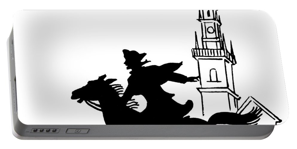 1775 Portable Battery Charger featuring the photograph Paul Reveres Ride by Granger