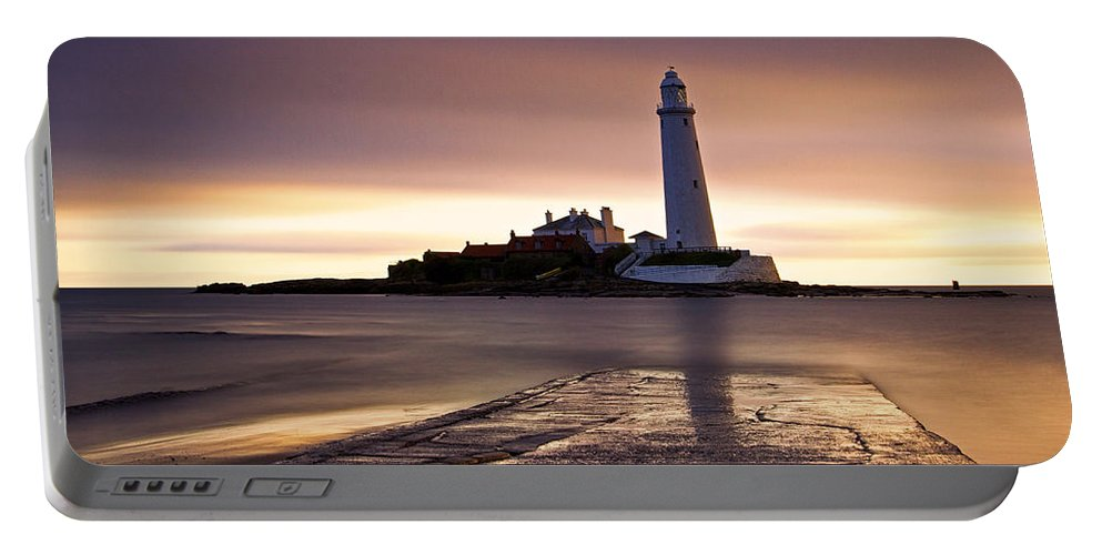 St Marys Portable Battery Charger featuring the photograph St Marys Lighthouse by David Pringle