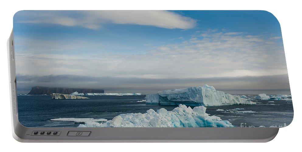 Icebergs Portable Battery Charger featuring the photograph Iceberg by John Shaw