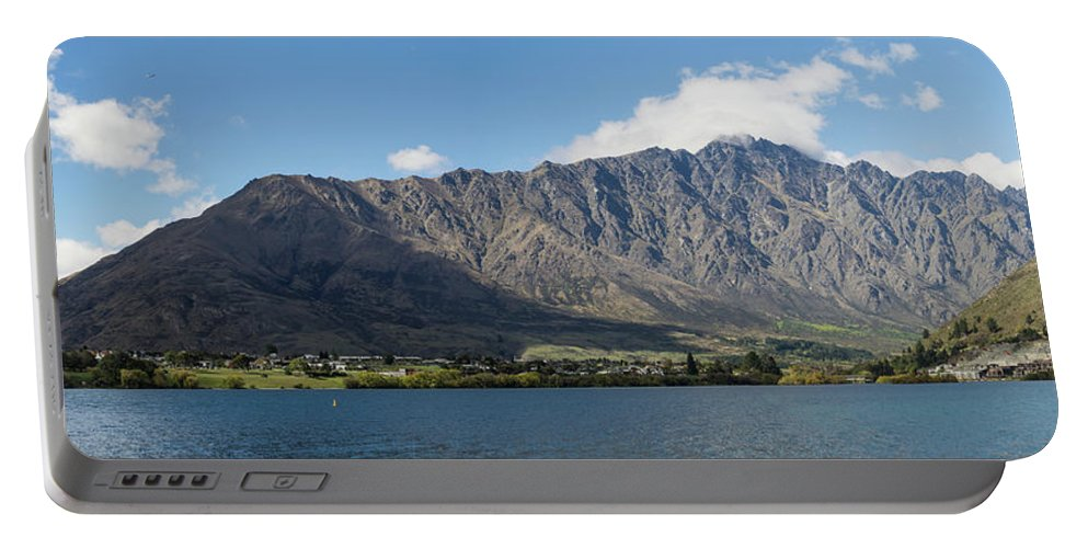 Photography Portable Battery Charger featuring the photograph Lake With Mountain Range by Panoramic Images