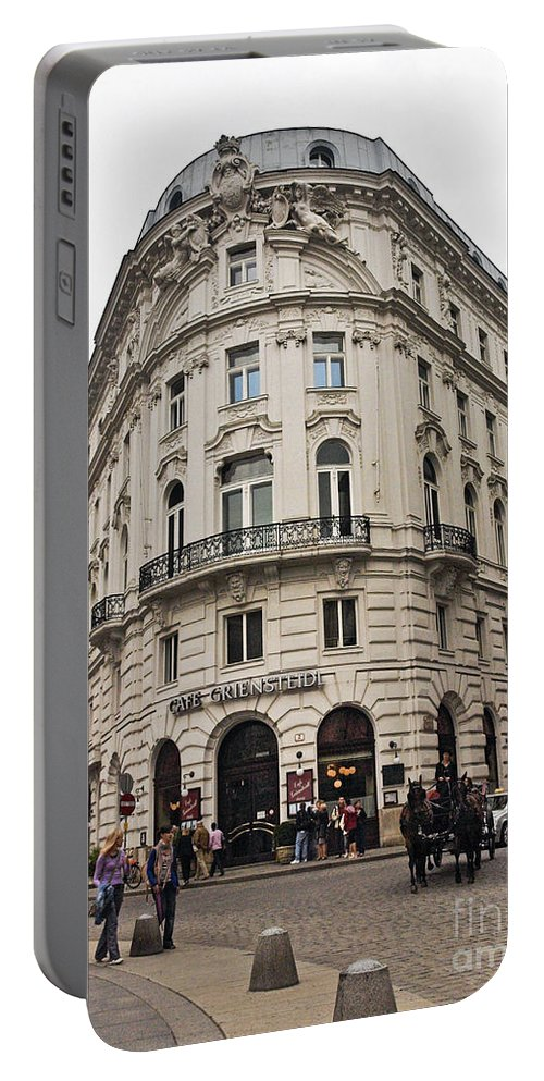Michaelerplatz Portable Battery Charger featuring the photograph Vienna Austria by Howard Stapleton