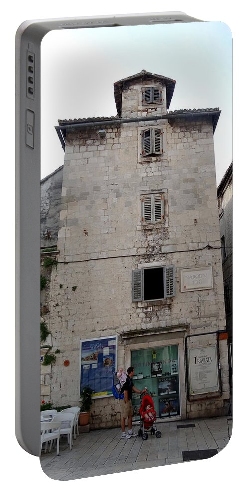 Mediterranean Portable Battery Charger featuring the photograph Views Of Split Croatia by Richard Rosenshein
