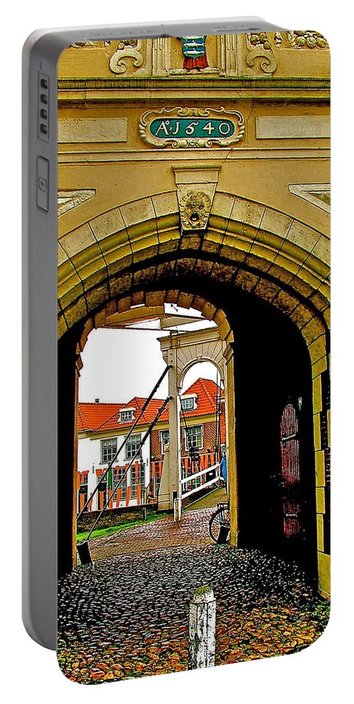 1540 Entrance To Enkhuizen The Netherlands Portable Battery Charger featuring the photograph 1540 Entrance To Enkhuizen-netherlands by Ruth Hager