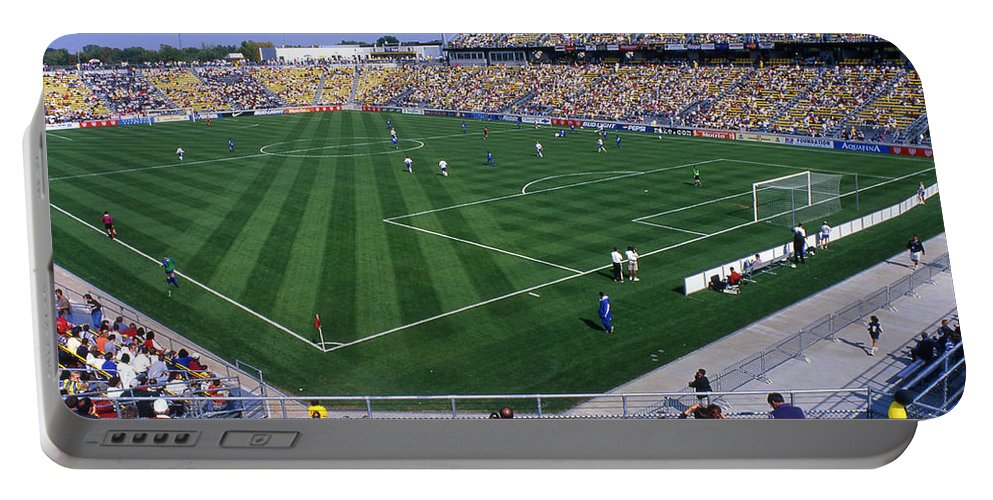 Crew Stadium Portable Battery Charger featuring the photograph 16w146 Crew Stadium Photo by Ohio Stock Photography