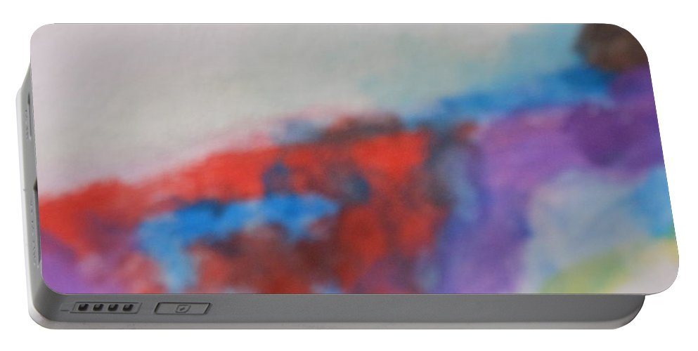 Water Portable Battery Charger featuring the painting Abstract by Lord Frederick Lyle Morris - Disabled Veteran
