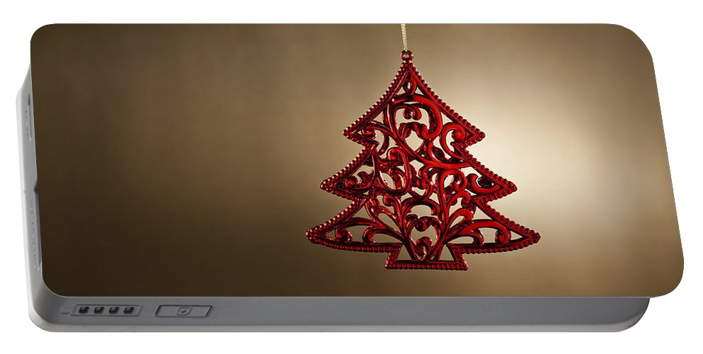 Fun Portable Battery Charger featuring the photograph Christmas Tree Ornament by U Schade