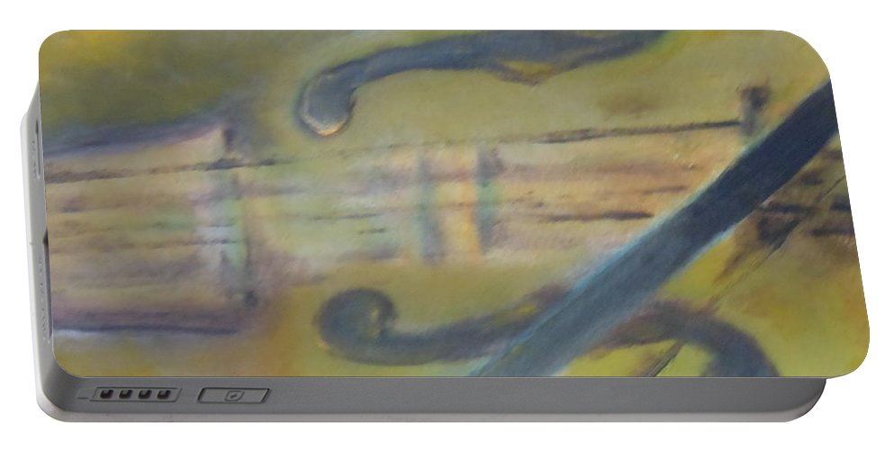 Abstract Portable Battery Charger featuring the painting Art By Lyle by Lord Frederick Lyle Morris - Disabled Veteran