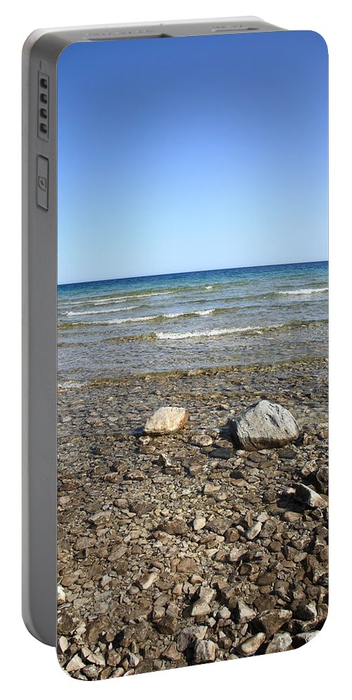 America Portable Battery Charger featuring the photograph Lake Huron by Frank Romeo
