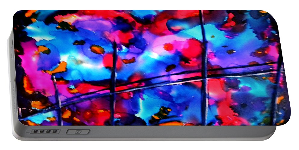 Abstract Portable Battery Charger featuring the painting 18 X 24.2 by Art by Kar