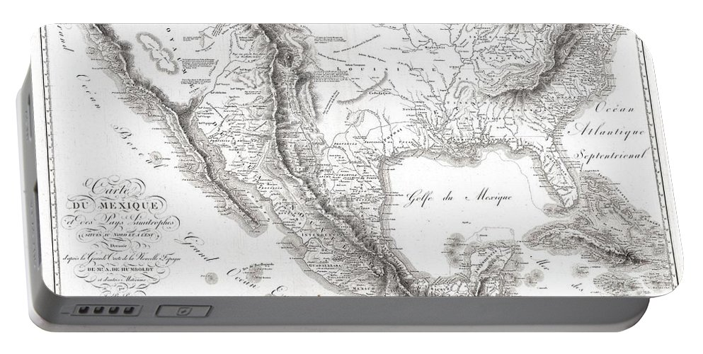 1811 Humboldt Map Of Mexico Portable Battery Charger featuring the photograph 1811 Humboldt Map Of Mexico Texas Louisiana And Florida by Paul Fearn