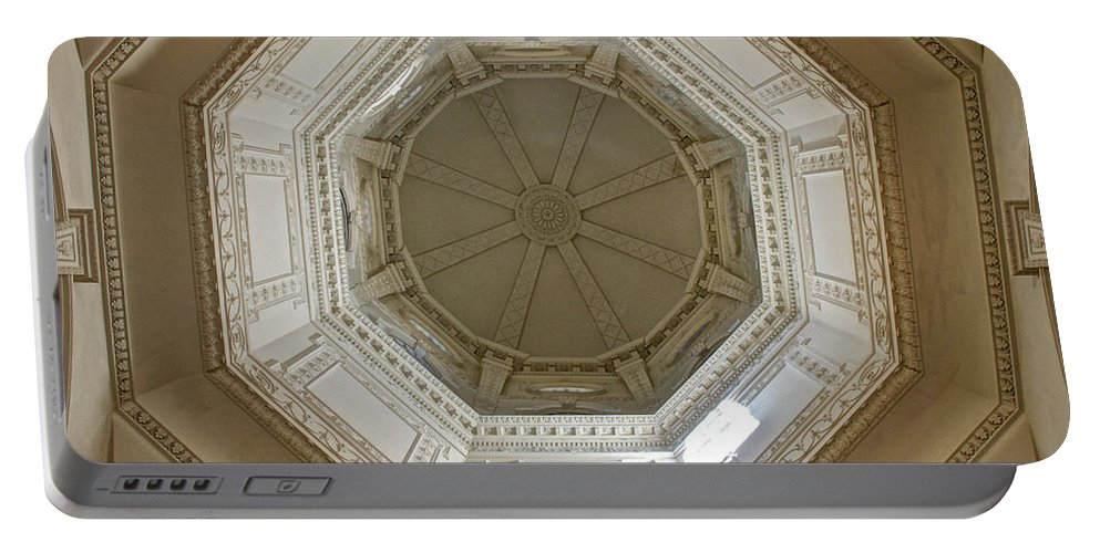 18th Century State House Rotunda Dome Portable Battery Charger featuring the photograph 18th Century State House Rotunda Dome by Mark Dodd