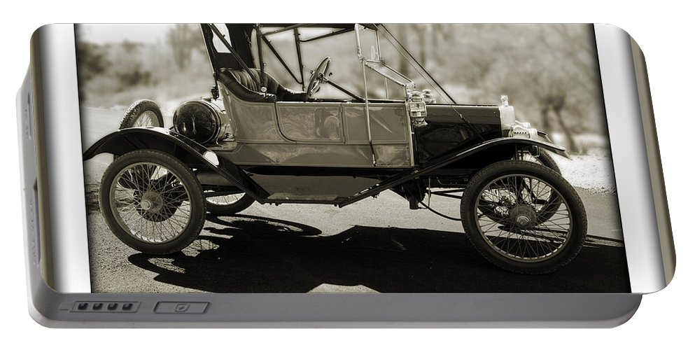 1911 Ford Model T Torpedo Portable Battery Charger featuring the photograph 1911 Ford Model T Torpedo by Jill Reger