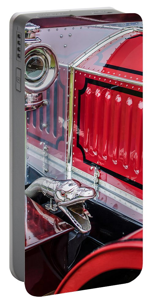 1912 Rolls-royce Silver Ghost Rothchild Et Fils Style Limousine Snake Horn Portable Battery Charger featuring the photograph 1912 Rolls-royce Silver Ghost Rothchild Et Fils Style Limousine Snake Horn -0711c by Jill Reger