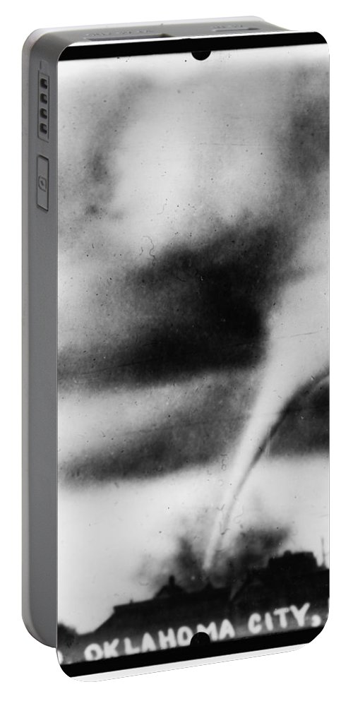 1913 Portable Battery Charger featuring the photograph 1913 Oklahoma City Tornado by Bill Cannon