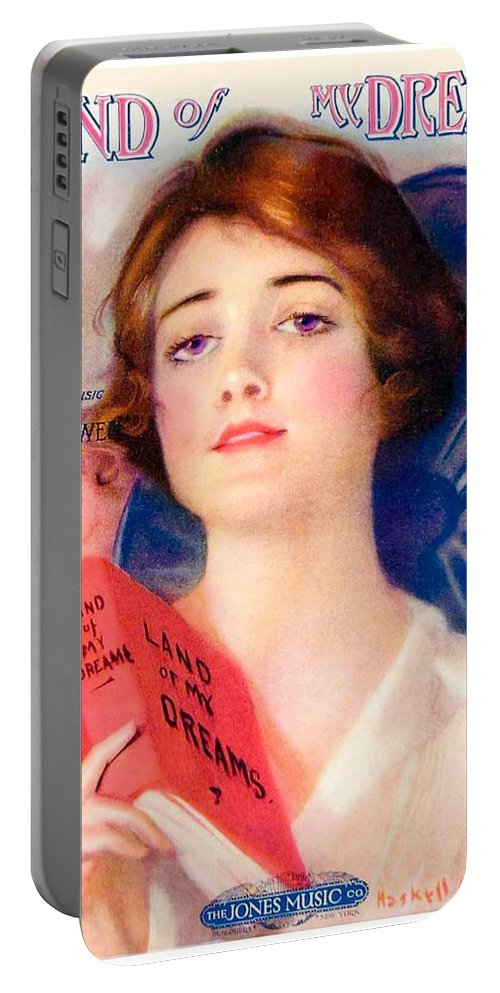 Color Portable Battery Charger featuring the digital art 1919 - Land Of My Dreams By Anita Owen Sheet Music - Color by John Madison