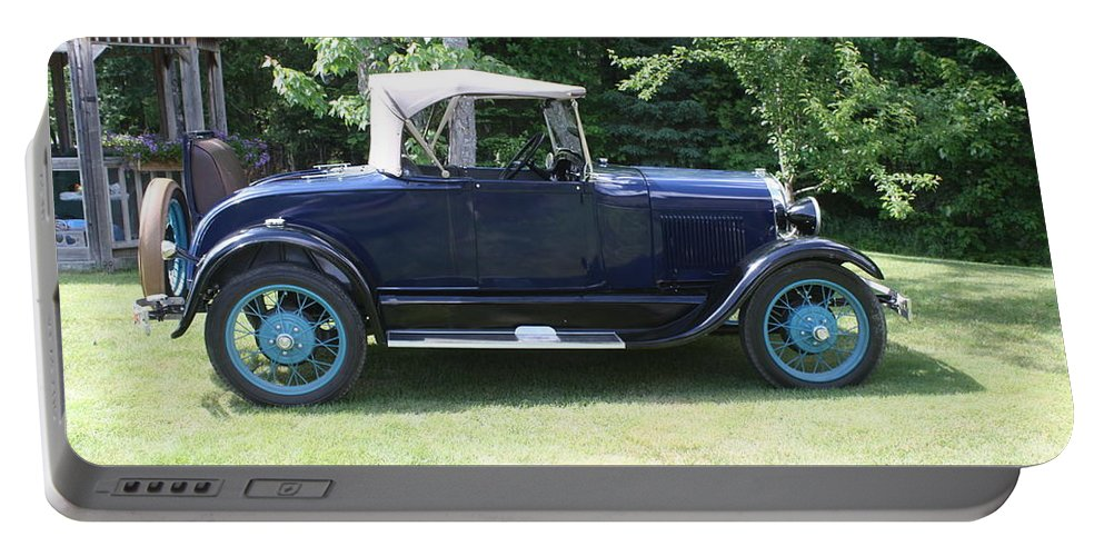 1930 Ford Model-a Portable Battery Charger featuring the photograph 1929 Model-a Roadster 4 by Joseph Marquis