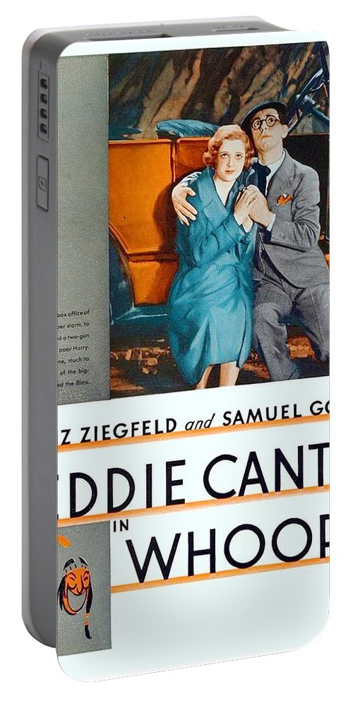 1930 Portable Battery Charger featuring the digital art 1930 - Whoopee - Movie Poster - Eddie Cantor - Florenz Ziegfield - Samuel Goldwyn - Color by John Madison