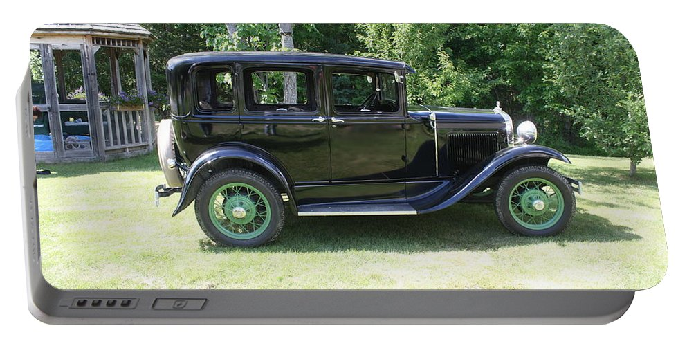 1930 Ford Model-a Portable Battery Charger featuring the photograph 1930 Model-a Town Car 1 by Joseph Marquis