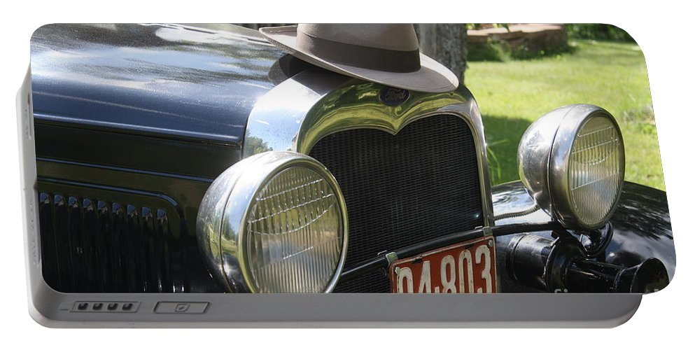1930 Ford Model-a Portable Battery Charger featuring the photograph 1930 Model-a Town Car 2 by Joseph Marquis