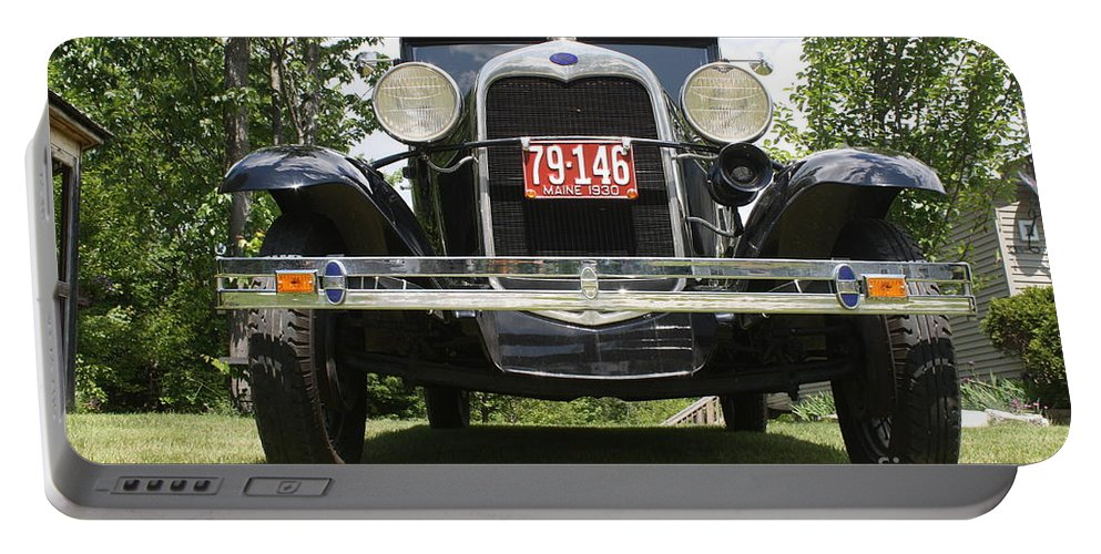 1930 Ford Model-a Portable Battery Charger featuring the photograph 1930 Model-a Tudor 3 by Joseph Marquis