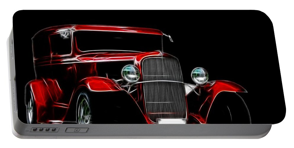 Automobile Portable Battery Charger featuring the digital art 1931 Ford Panel Truck 2 by Davandra Cribbie