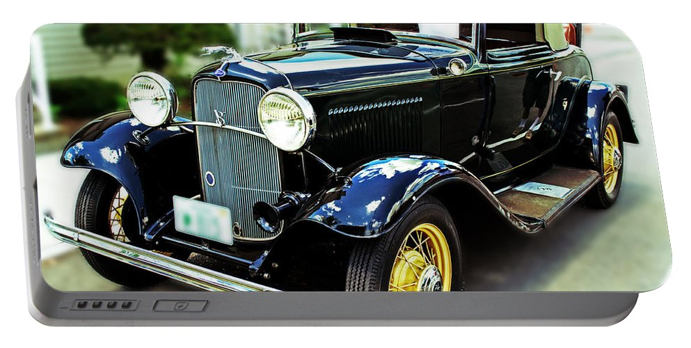 Car Portable Battery Charger featuring the photograph 1932 Ford Cabriolet by Kevin Fortier