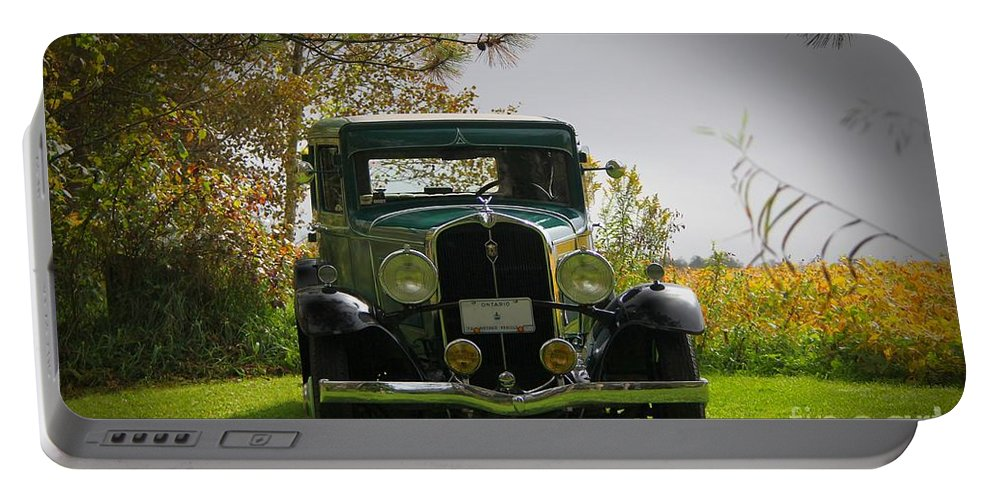 Car Portable Battery Charger featuring the photograph 1932 Frontenac 6-70 Sedan by Davandra Cribbie