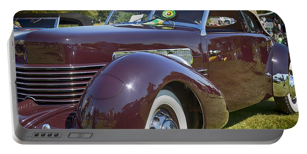 1937 Portable Battery Charger featuring the photograph 1937 Cord Phaeton by Jack R Perry
