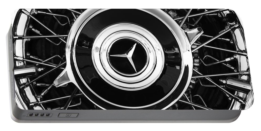 1939 Mercedes-benz 540k Special Roadster Wheel Rim Emblem Portable Battery Charger featuring the photograph 1939 Mercedes-benz 540k Special Roadster Wheel Rim Emblem by Jill Reger