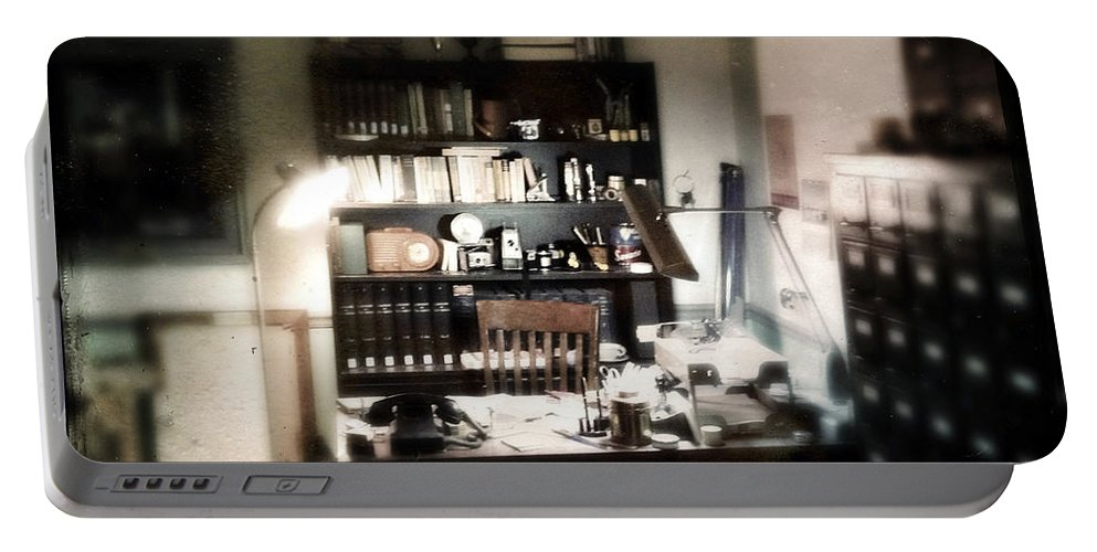 Office Portable Battery Charger featuring the photograph 1940s Office by Tim Nyberg