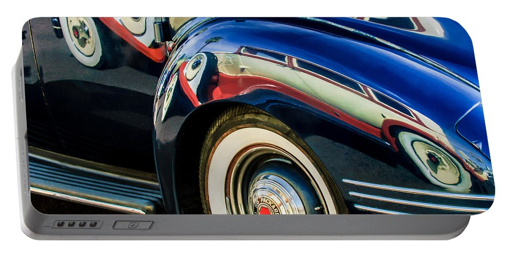 1941 Packard 110 Deluxe Portable Battery Charger featuring the photograph 1941 Packard 110 Deluxe -1092c by Jill Reger
