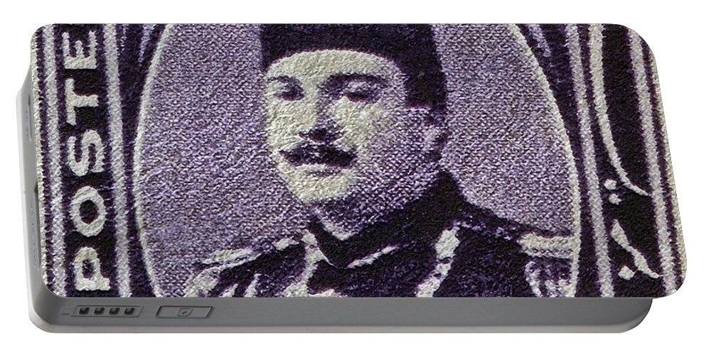 1944 Portable Battery Charger featuring the photograph 1944 King Farouk Egypt Stamp by Bill Owen