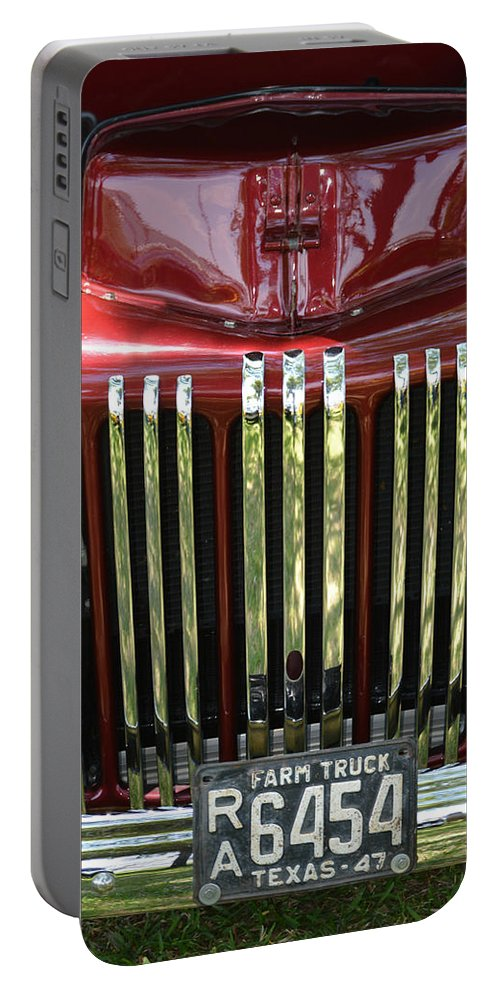 Truck Portable Battery Charger featuring the photograph 1947 Farm Truck by Gale Cochran-Smith