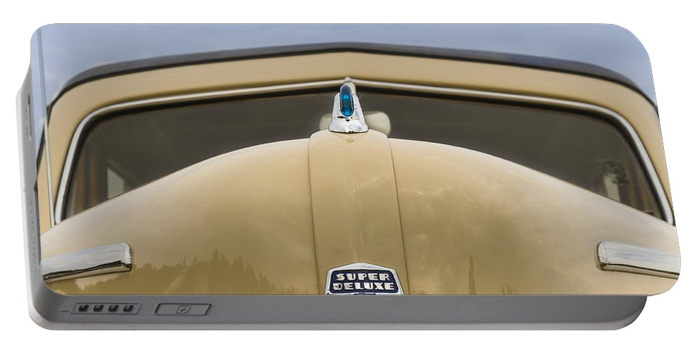 Antique Portable Battery Charger featuring the photograph 1947 Ford Super Deluxe Wagon by Jack R Perry