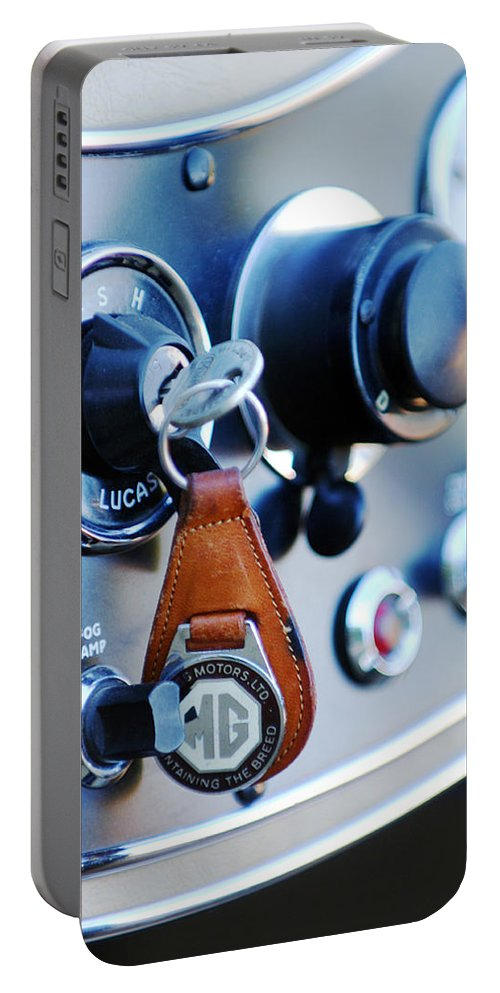 1948 Mg Tc Key Ring Portable Battery Charger featuring the photograph 1948 Mg Tc Key Ring by Jill Reger