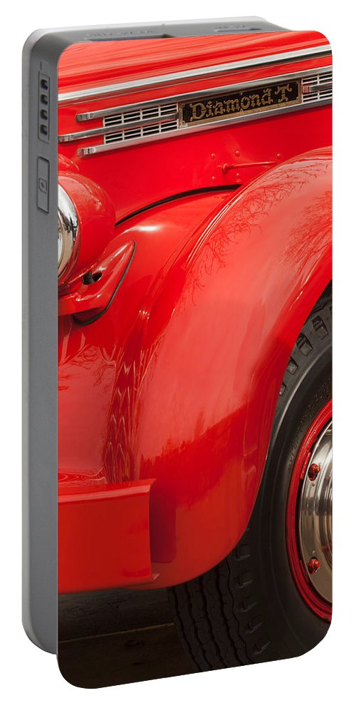 1949 Diamond T Truck Portable Battery Charger featuring the photograph 1949 Diamond T Truck Front End by Jill Reger