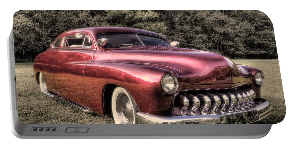 1950 Mercury Classic Portable Battery Charger featuring the photograph 1950 Custom Mercury Subdued Color by David B Kawchak Custom Classic Photography