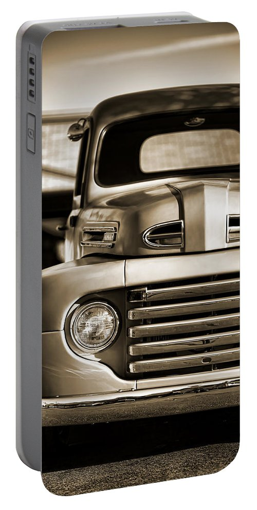 Portable Battery Charger featuring the photograph 1950 Ford F-100 by Gordon Dean II