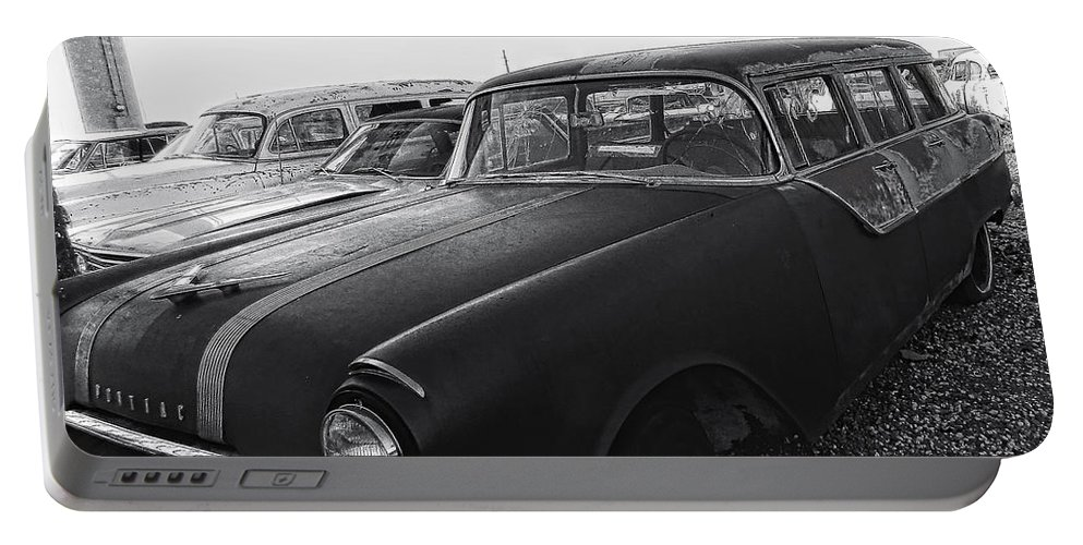Old Car Portable Battery Charger featuring the photograph 1950's Pontiac By Cathy Anderson by Cathy Anderson