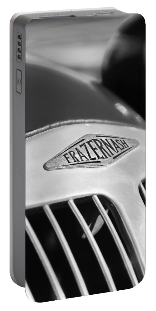 1952 Frazer-nash Le Mans Replica Mkii Competition Model Grille Emblem Portable Battery Charger featuring the photograph 1952 Frazer-nash Le Mans Replica Mkii Competition Model Grille Emblem by Jill Reger