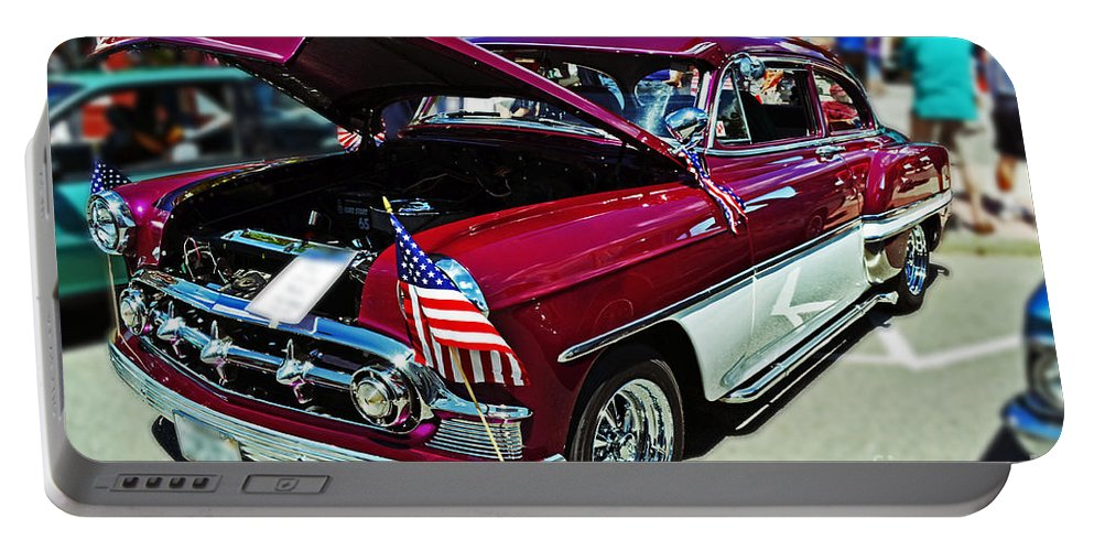 Chevy Portable Battery Charger featuring the photograph 1953 Chevy Belair by Kevin Fortier