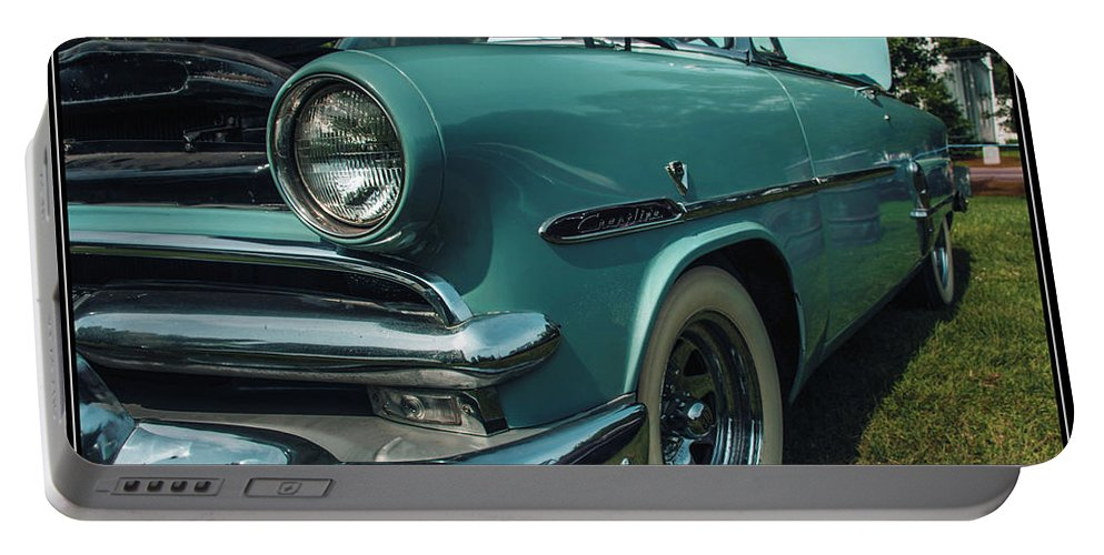 Ford Portable Battery Charger featuring the photograph 1953 Ford Crestline by Sherman Perry